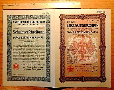 Weimar Germany, 1925 Replacement 'double Bond' - 12.5 Reichsmark  Vf-Ef   Hno