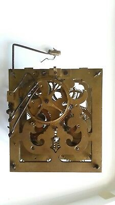 Antique 2 Spring Driven Cuckoo Clock Movement. Sculptured Heavy Brass Plates.
