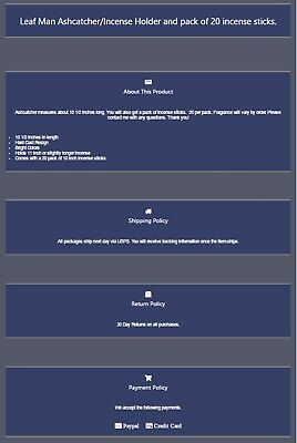 Ebay Listing Template - Simple Dark Colors - Mobile Responsive and Easy to Edit