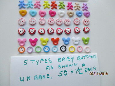 Buttons all brand new an assortment of small baby buttons (so cute)