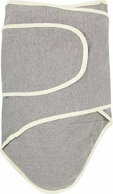 Miracle Blanket Swaddle Gray With Yellow Trim NEW