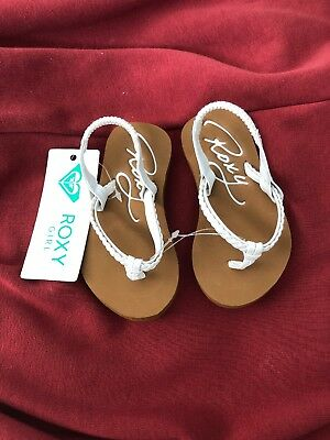 Roxy Girl/'s Youth White Cabo Sandals New w//Hang Tags
