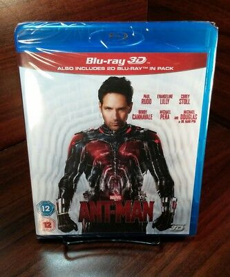 Marvel's Ant-Man(3D+Blu-ray Disc,2015)REGION FREE-Brand NEW-Free S&H with Track