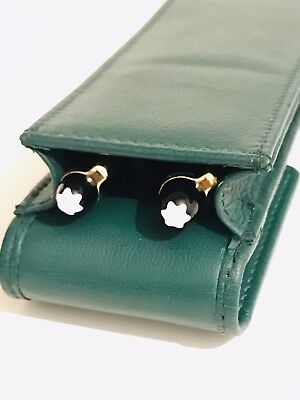 Geen Double Magnetic Pen Case/Pouch. Real Soft Leather Hand Made