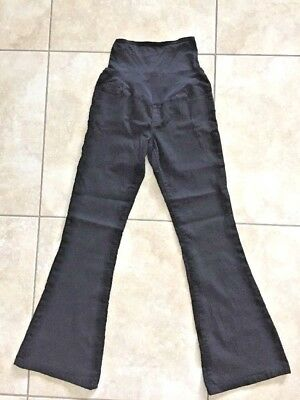 Old Navy Maternity Women's Smooth Panel Stretch Black Skinny Flare Jeans Size 4
