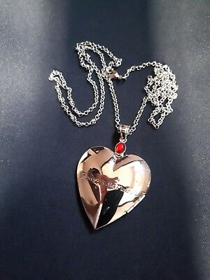 Extra Large Silver Love Heart Photo Locket + 925 Crypto Currency Contract