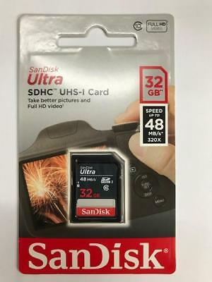 SDSDUNB-032G-GN3IN SanDisk 32GB 9p SDHC 48MB/s 320x Class 10 UHS-1 Ultra SD Card