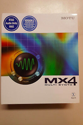 MOTU MX4 Virtual Synthesizer Plugin Software Version 2