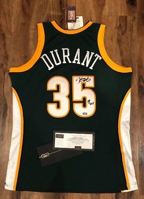 ce3419891a8 KEVIN DURANT Autographed ROY Supersonics Signed Mitchell Ness Jersey PANINI  COA