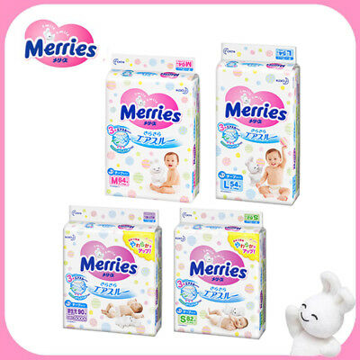【Made in Japan】Merries Baby Tape Diapers Disposable ALL Sizes ( NB / S / M / L )