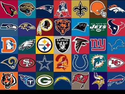 Mini Nfl Logo Stickers Full Set Of All 32 Teams 1 12 By 1 12