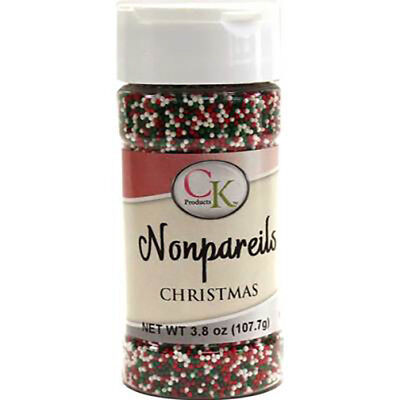 Christmas Nonpariels sprinkles  for Cupcakes Cookies, Chocolates & Candy