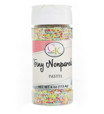 Pastel Mixed (Tiny) NonPareil sprinkles for Cookies, Cupcakes, Candy etc