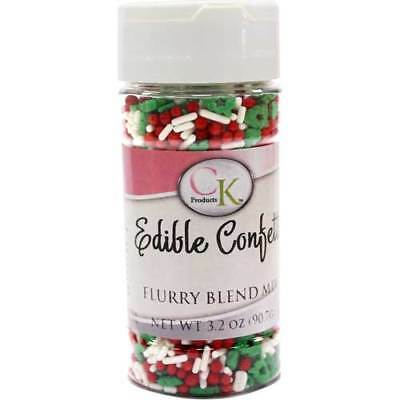 Christmas Flurry Blend Edible Confetti for Cupcakes, Cookies, Chocolates & Candy