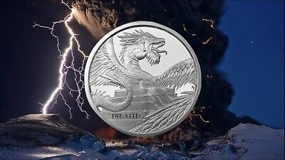 The Aztec 1 oz Silver Round Coin | World of Dragons - #1 of 6 in Series