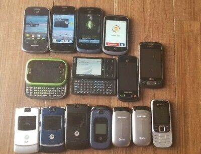Lot of Working GSM Android smartphones Camera Flip phones Motorola Samsung LG