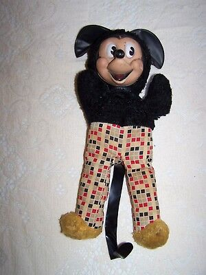 Sweet Vintage GUND MICKEY MOUSE STUFFED DOLL #2 Red Black White Checkered Pants