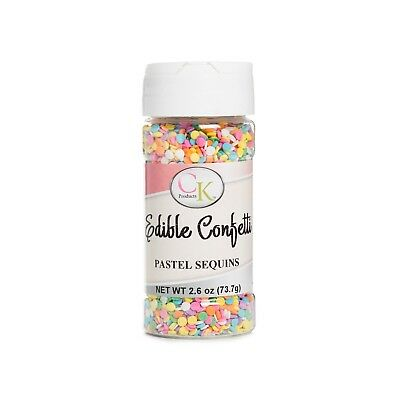Pastel Sequins Edible Confetti sprinkles for Cupcakes, Cookies, Candy etc