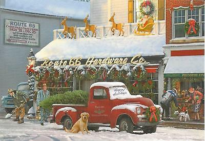 Pickup Trucks Route 66 Hardware Christmas Card