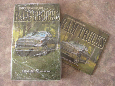 DODGE RAM 1500/2500/3500 - 2016 - Owner's Manual  & DVD - IN FRENCH - SEALED