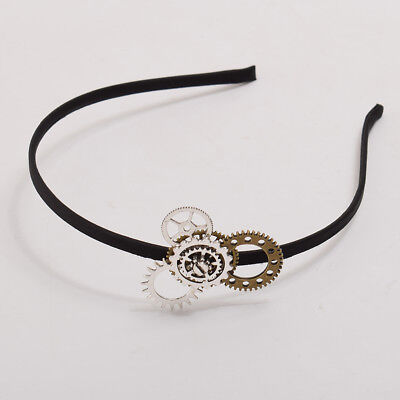 Girls' Steampunk Gears Headband Vintage Victorian Hairband Cosplay Props 1PC