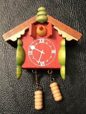 Vintage Ulbricht Cuckoo Clock German Wooden Christmas Ornament