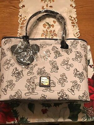 Disney Dooney And Bourke Mickey's 90th Birthday Tote Bag Shopper Purse New Bag