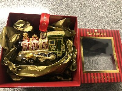 Waterford Holiday Heirlooms Train Engine Ornament Mint New in Box