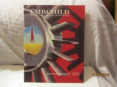 Vintage Fairchild Engine & Airplane Corp 1951 Annual Report