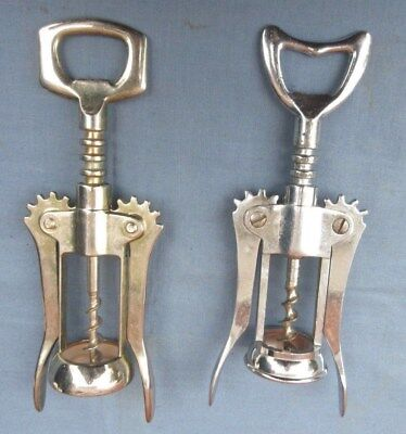 Lot Of Two 2 Vintage Italian Double Winged Mechanical Corkscrew Bottle Openers