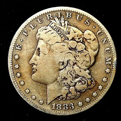 1883 S ~**KEY DATE**~ Silver Morgan Dollar Rare US Old Antique Coin! #K48
