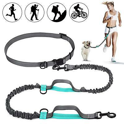 Hands Free Waist Dog Leash with Dual Bungees, Free Control for Up to 150 lbs Dog