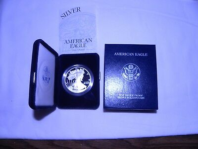 2003  w silver proof american eagle dollar coin us mint with  coa and box