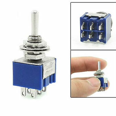 Blue ON/off/ON 3 Position DPDT 6 Pins Toggle Switch 6A AC 125V 12V