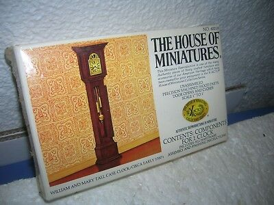 Vtg NIB House of Miniatures WILLIAM & MARY TALL CASE CLOCK  #40018 X-Acto SEALED