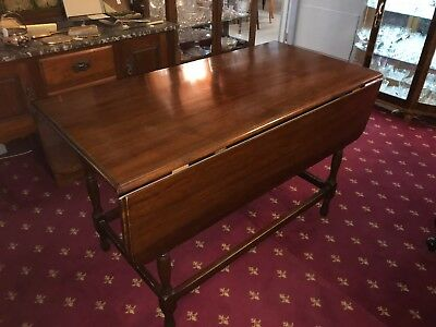 Antique Blackwood Drop Side Dining Table