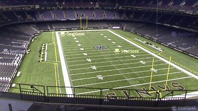 2 Tickets First Row Of Section!!! New Orleans Saints Vs Carolina Panthers 12/30