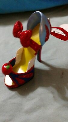 Disney Parks Snow White Shoe Ornament NEW with tags