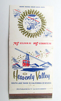 Heavenly Valley - South Lake Tahoe California & Nevada 30 Strike Matchbook Cover