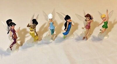 Disney Tinker Bell & Friends Fairies PlaySet Cake Toppers Figures 6 Pc Rare