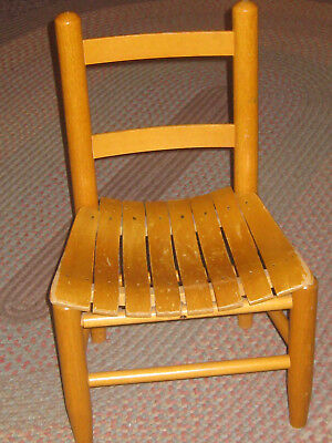 Childs Wood Chair Slatted Seat Latter Back