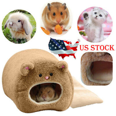 US Pet Nest Hamster Bed Warm Hammock Rat Hedgehog Squirrel House Chinchilla Cage