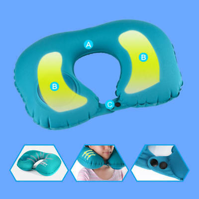 Portable Air Travel Pillow Self Inflatable U-Shaped Bed Cushion Neck Camping