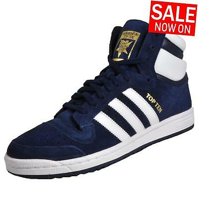 15e2736ae392 Adidas Originals Top Ten Hi Men s Casual Basketball Court Trainers Navy