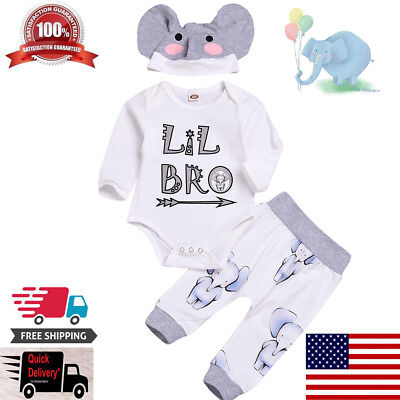 3PCS Newborn Kids Baby Boy Girls Sweatshirt Hoodies+Pants Headband  Outfit Set
