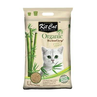 Kit Cat Flushable Biodegradable Clumping Bamboo Litter for Short Haired Cats 3kg