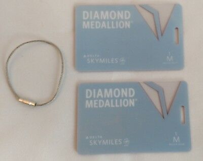 Two 1 Million Miler Delta Airlines Diamond Medallion Luggage tags