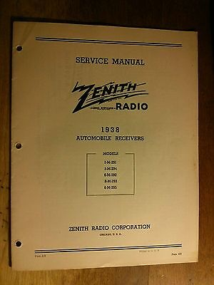 Zenith 1938 Vintage Radio Model 6s222 14850 Picclick. Vintage 30s Original 1938 Zenith Radio Automobile Receivers Service Manual. Wiring. Zenith Tube Radio Schematics 1938 At Scoala.co