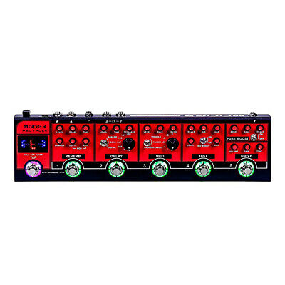 Mooer Red Truck Combines Distortion Overdrive Delay Reverb Guitar Effects Pedal