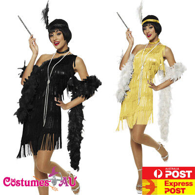 Teens Teen 20s 1920s Black Yellow Costume Gatsby Girls Flapper Party Fancy Dress